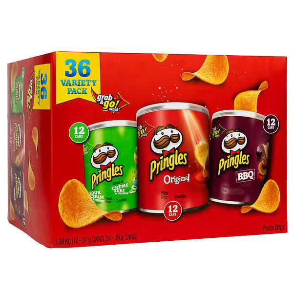 Pringles Variety Pack Potato Chips Pack of 36