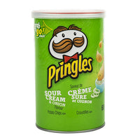 Pringles Sour Cream and Onion Potato Chips 68 g adea coffee