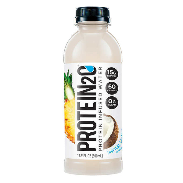Protein 2o Tropical Coconut Protein Water 12 × 500 mL