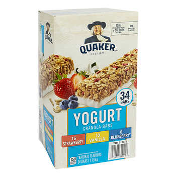 Quaker Yogurt Granola Bars 34 × 35 g