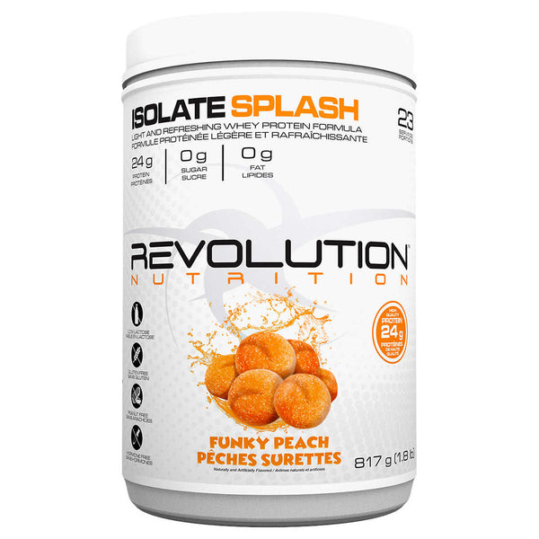 Revolution Nutrition Whey Isolate Splash Protein Powder, Funky Peach