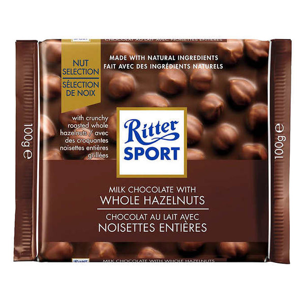 Ritter Sport Whole Hazelnut Chocolate Squares 100 g