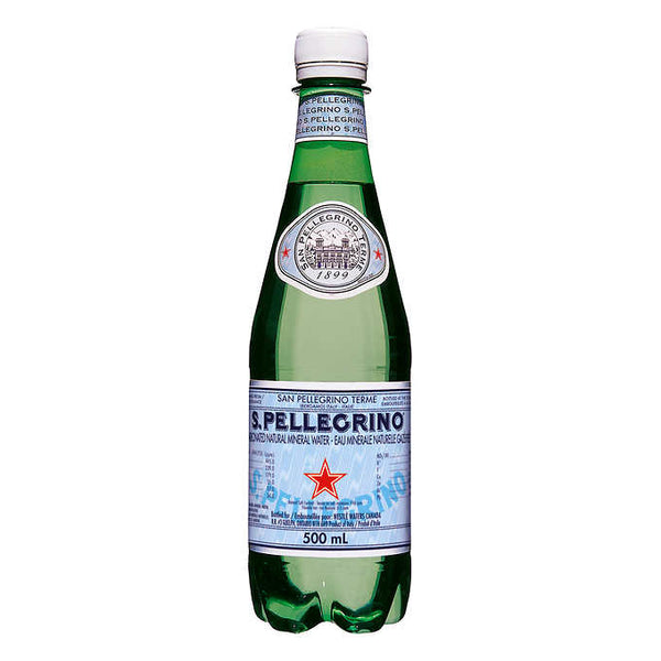 San Pellegrino Carbonated Mineral Water 6 × 500 mL