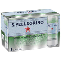 San Pellegrino Carbonated Mineral Water Slim Cans 8 × 330 mL
