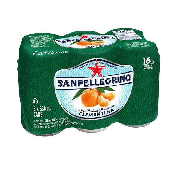 San Pellegrino Clementina Carbonated Beverage 6 × 330 mL