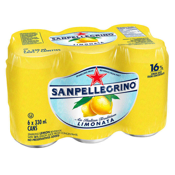 San Pellegrino Limonata Carbonated Beverage 24 × 330 mL