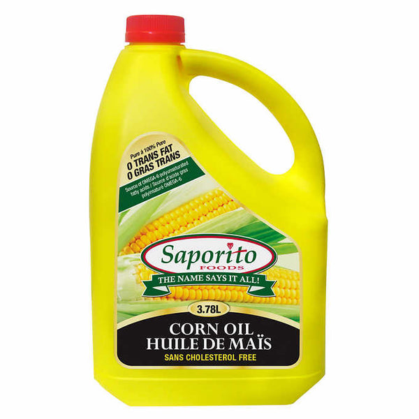 Saporito Foods Corn Oil, Cholesterol Free, 3.78 L ADEA COFFEE
