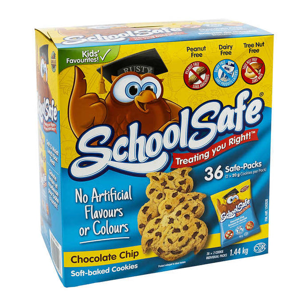 School Safe Chocolate Chip Cookies 36 × 50 g