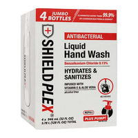ShieldPlex Antibacterial Liquid Hand Wash 4 x 946 mL