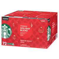 Starbucks Holiday Blend Medium Roast Coffee K-Cup Pods, 72-count