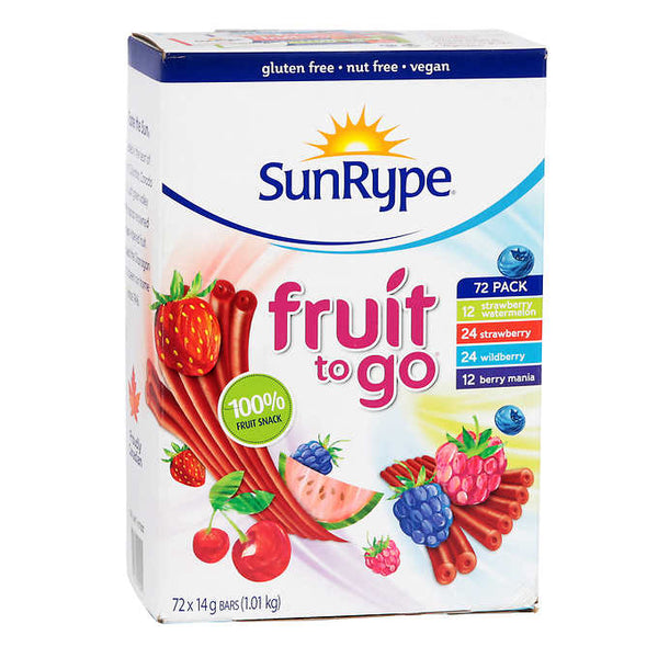 SunRype Fruit Bars Variety Pack 72 × 14 g
