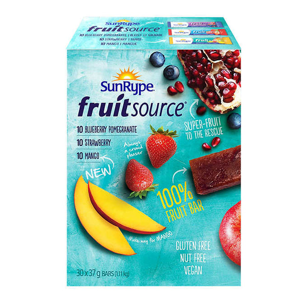 SunRype Fruit Source Bars 30 × 37 g