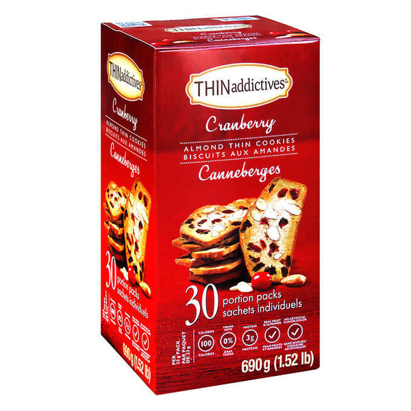 THINaddictives Cranberry Almond Thin Cookies 690 g