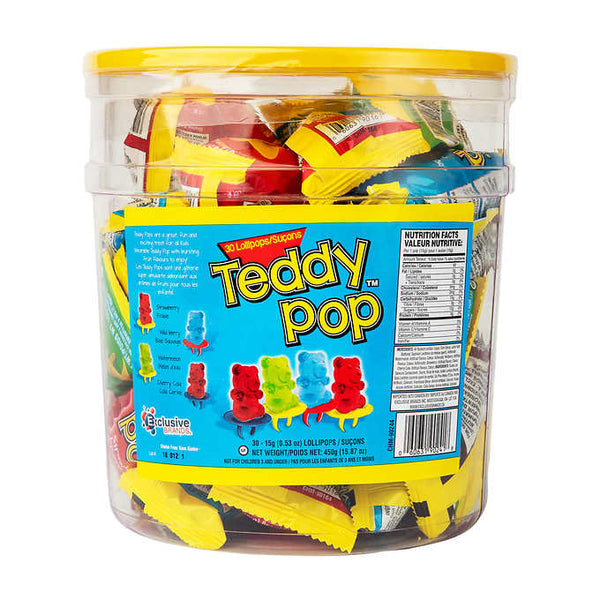 Teddy Pop Lollipops Pack of 30