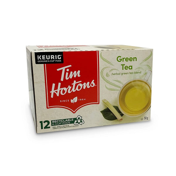 Tim Hortons Green Tea Single Serve 12 Pack