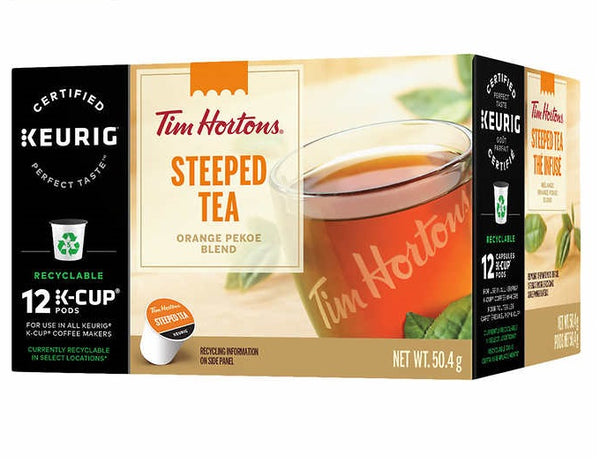 Tim Hortons Steeped Tea Single Serve Cups 12 pods
