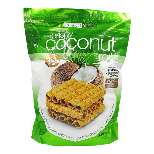 Tropical Fields Crispy Coconut Rolls 265 g adea coffee
