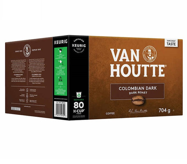 Van Houtte Colombian Dark Coffee K-Cup PodsPack of 80