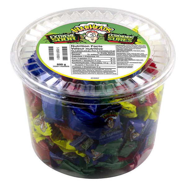 Warheads Extreme Sour Hard Candy 600 g adea coffee