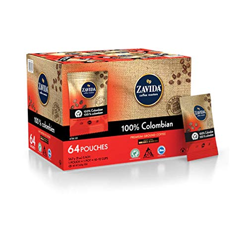 100% Colombian Coffee, 64 Pouches Ground coffee