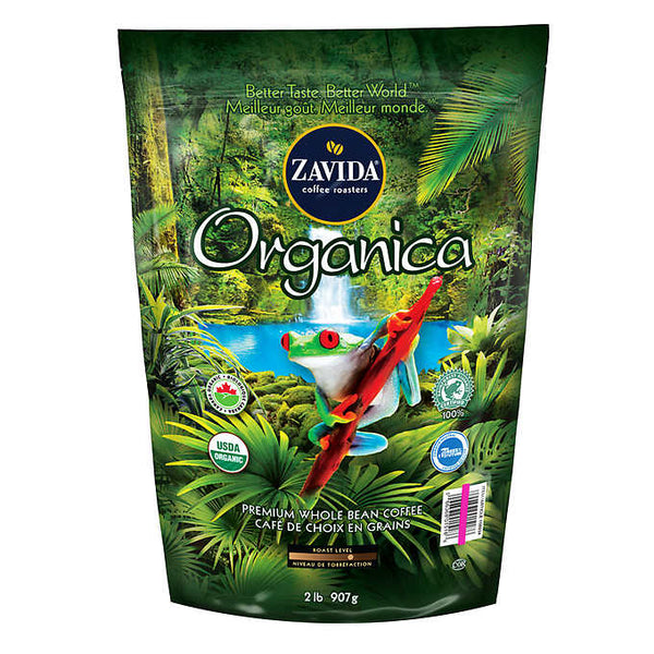 Zavida Organica Premium Whole Bean Coffee 907 g