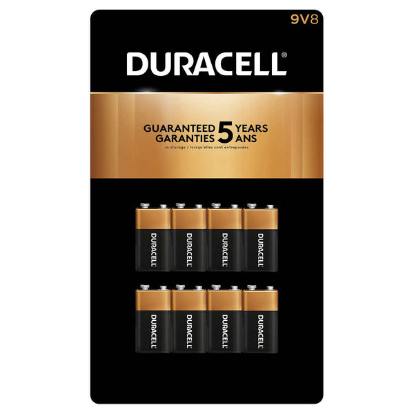 Duracell CopperTop 9V Batteries, 8-count