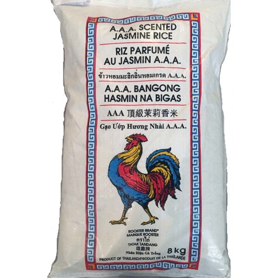 Rooster A.A.A. Scented Jasmine Rice 8 kg
