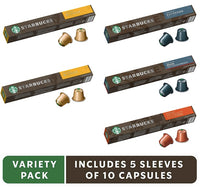 Starbucks by Nespresso Variety Pack 50 single serve capsules