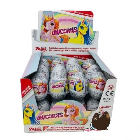 Zaini Unicorns Chocolate Eggs 24 x 20 g