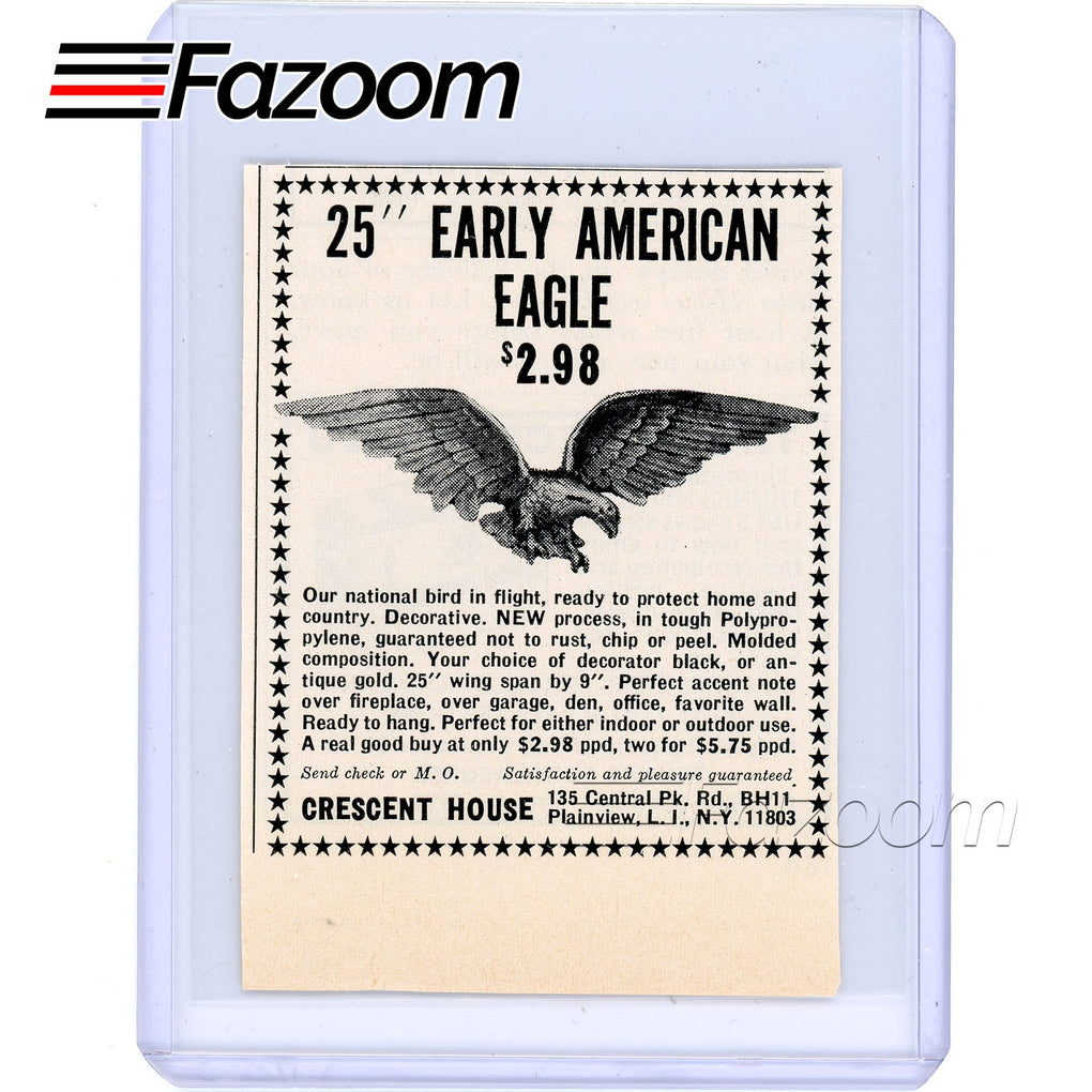 1967 25-inch Early American Eagle Vintage Ad - Fazoom