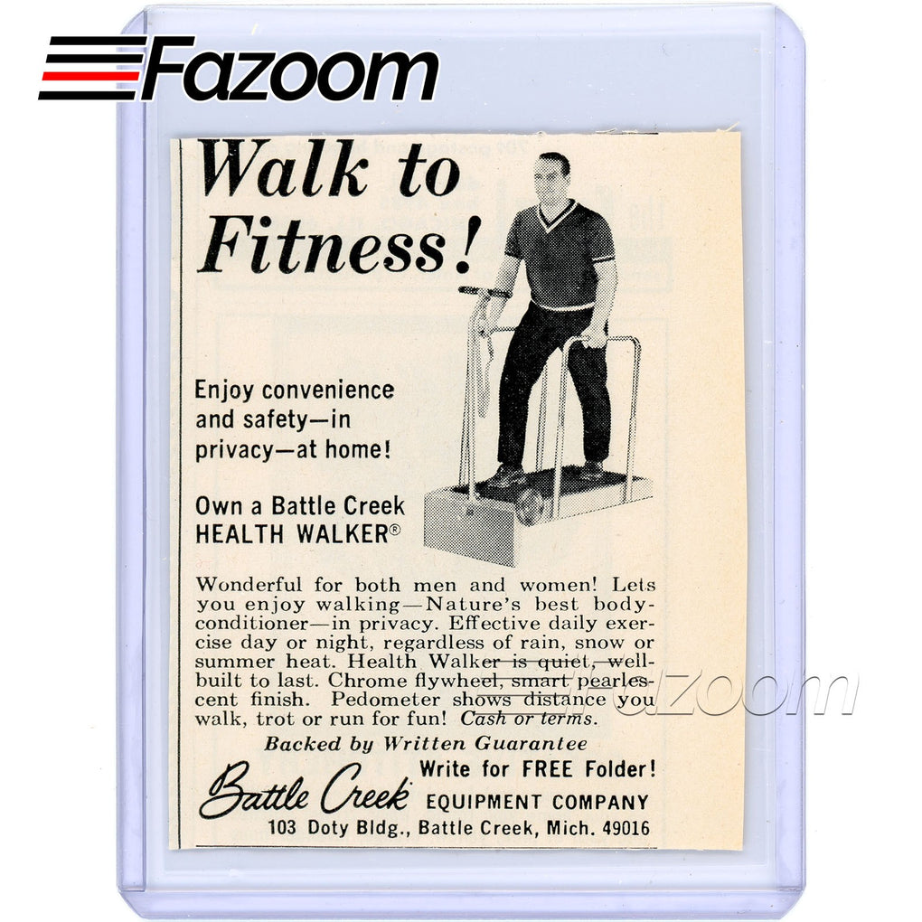 1967 Battle Creek Health Walker Vintage Ad - Fazoom