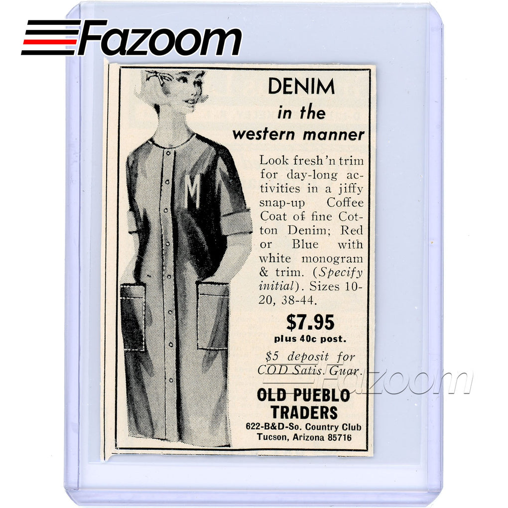 1967 Denim Coffee Coat Vintage Ad - Fazoom