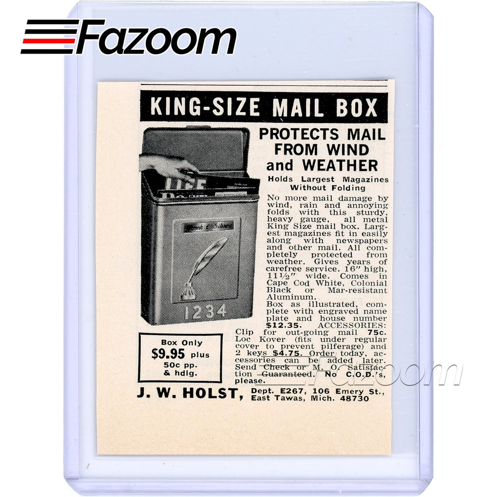 1967 King-Size Mail Box Vintage Ad - Fazoom