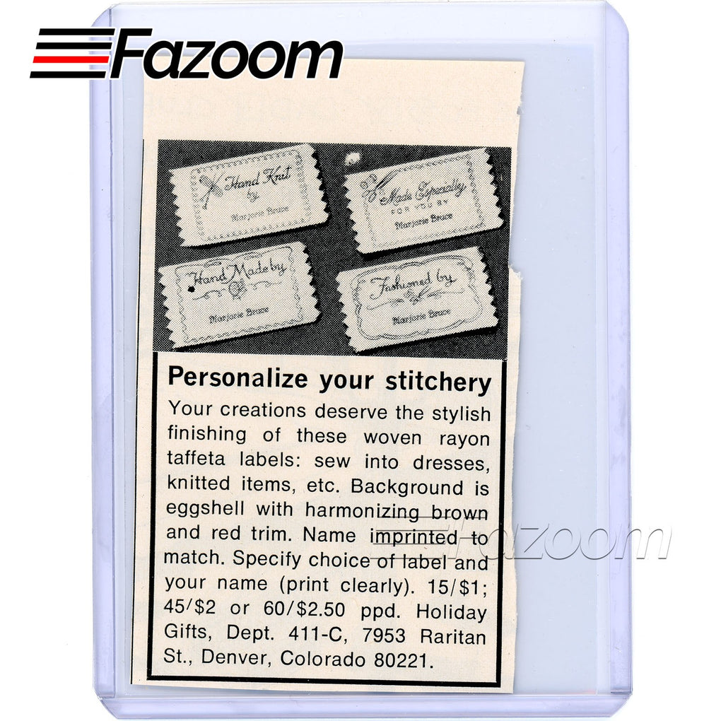 1967 Personalize Your Stitchery Vintage Ad - Fazoom