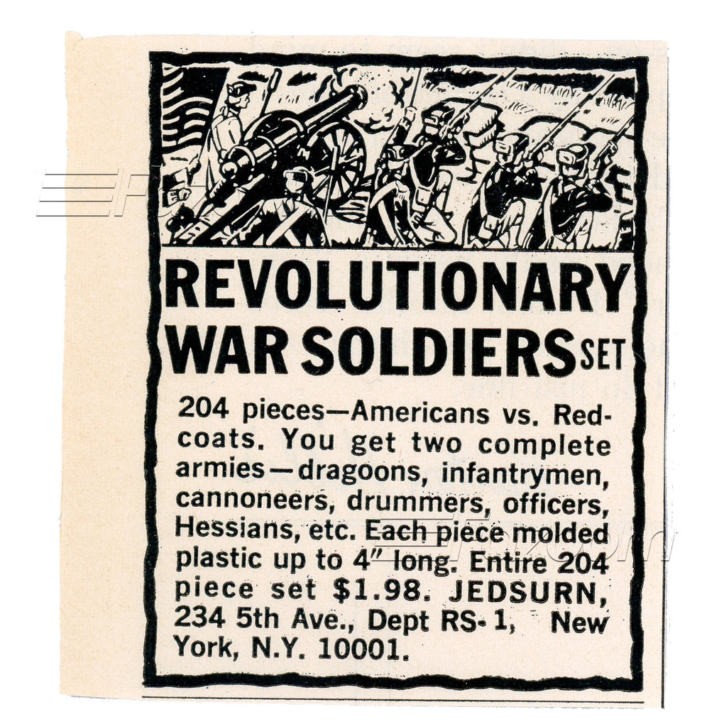 1967 Revolutionary War Soldiers Set Vintage Ad - Fazoom