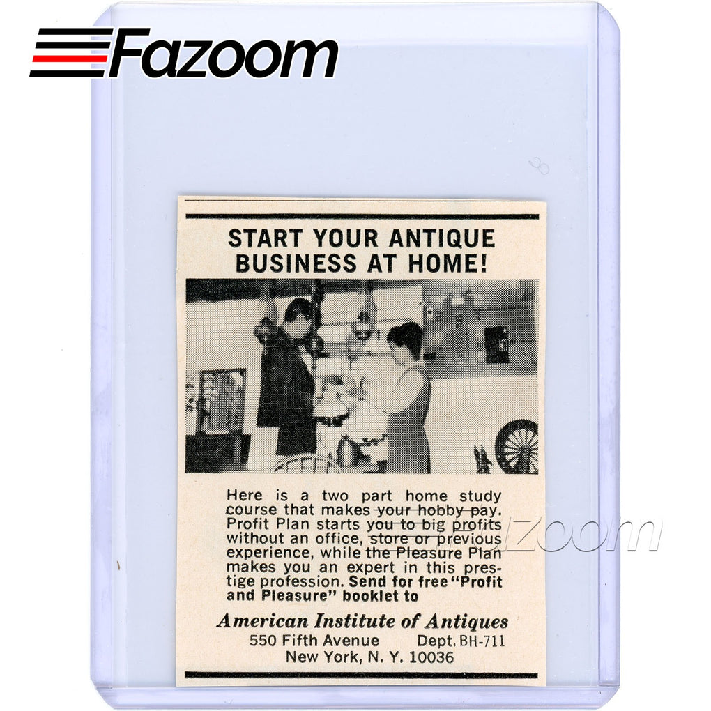 1967 Start Your Antique Business At Home Vintage Ad - Fazoom