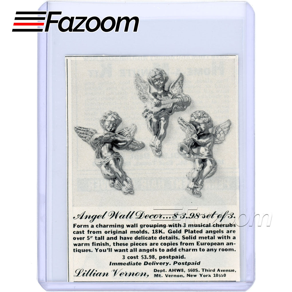 1968 Angel Wall Decor Set of 3 Vintage Ad - Fazoom