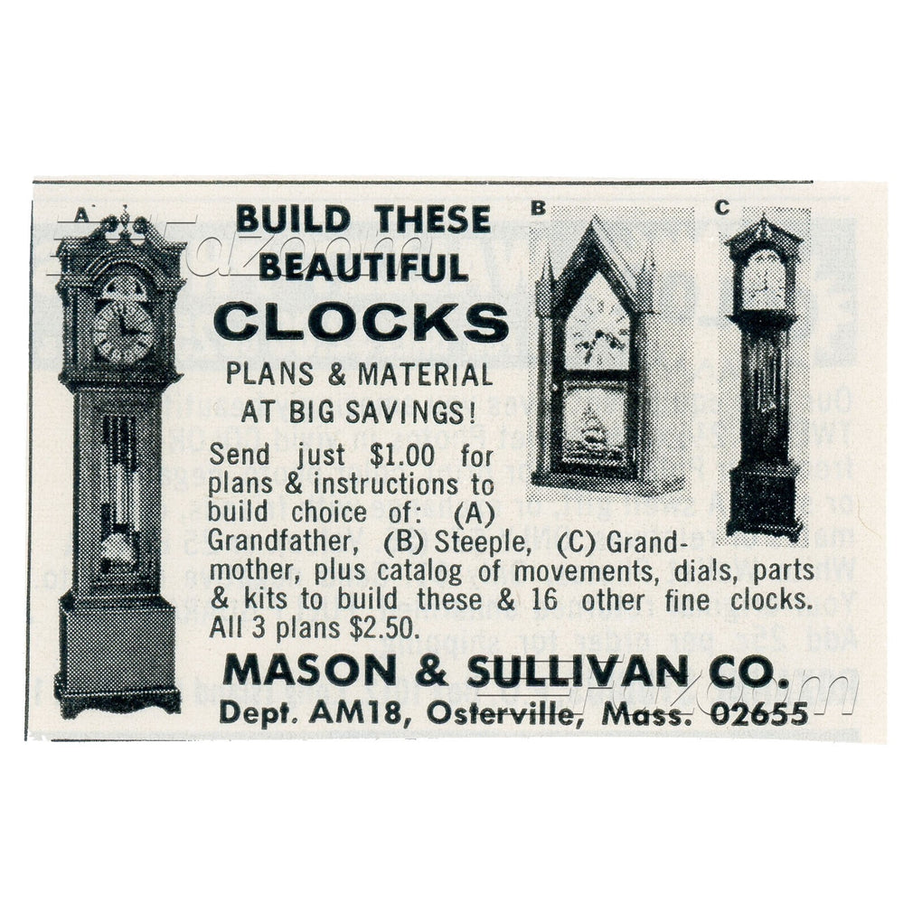 1968 Build These Beautiful Clocks Vintage Ad - Fazoom
