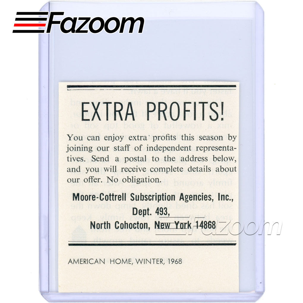 1968 Moore-Cottrell Subscription Agencies Vintage Ad - Fazoom
