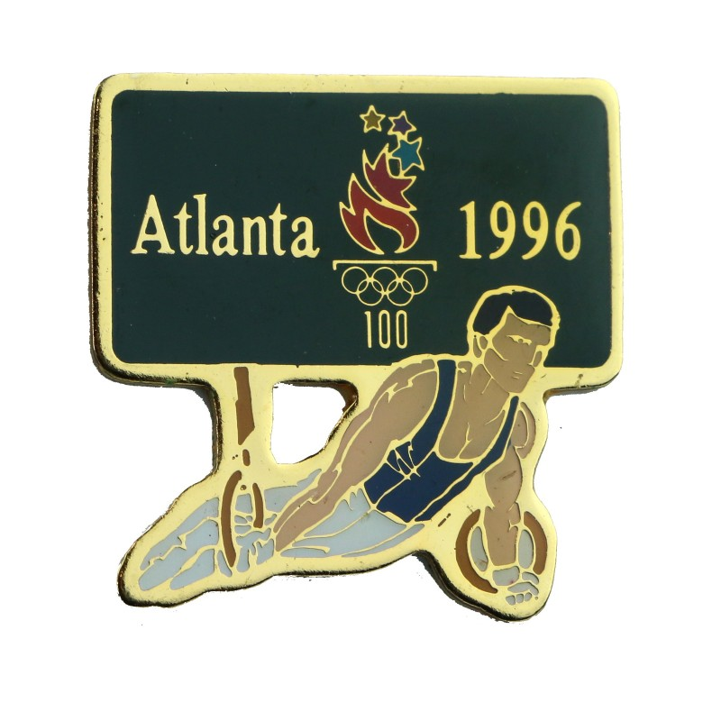 1996 Atlanta Summer Olympics Men's Gymnastics Rings Lapel Pin #41604 - Fazoom