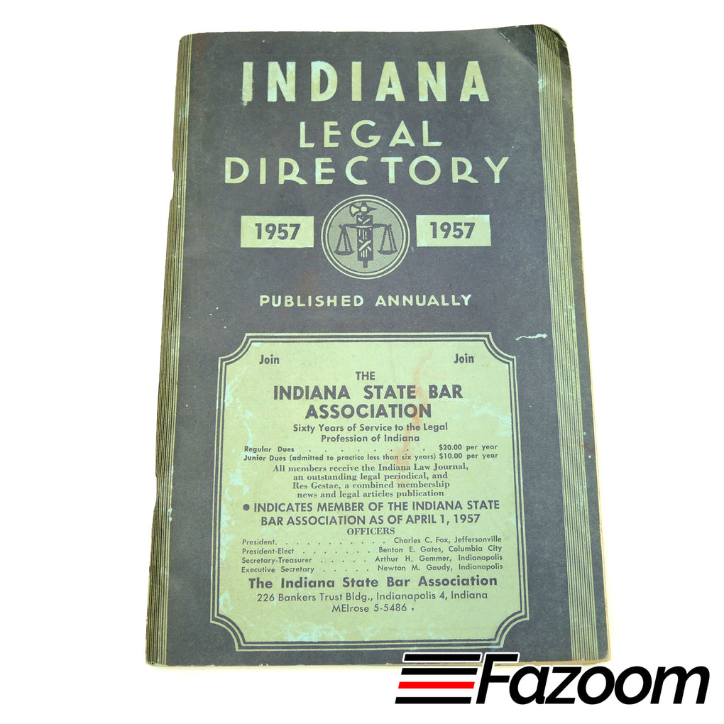 Indiana Legal Directory (1957) - Fazoom
