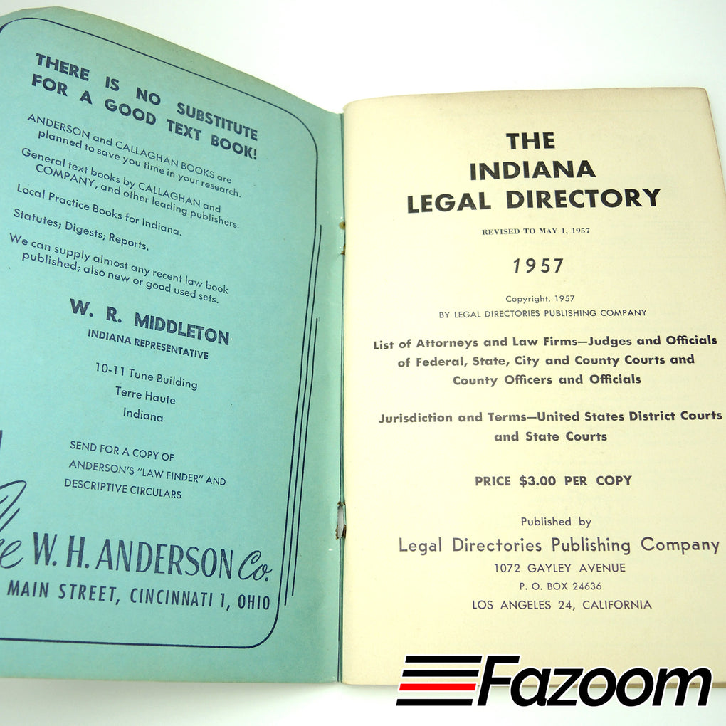 Indiana Legal Directory (1957)