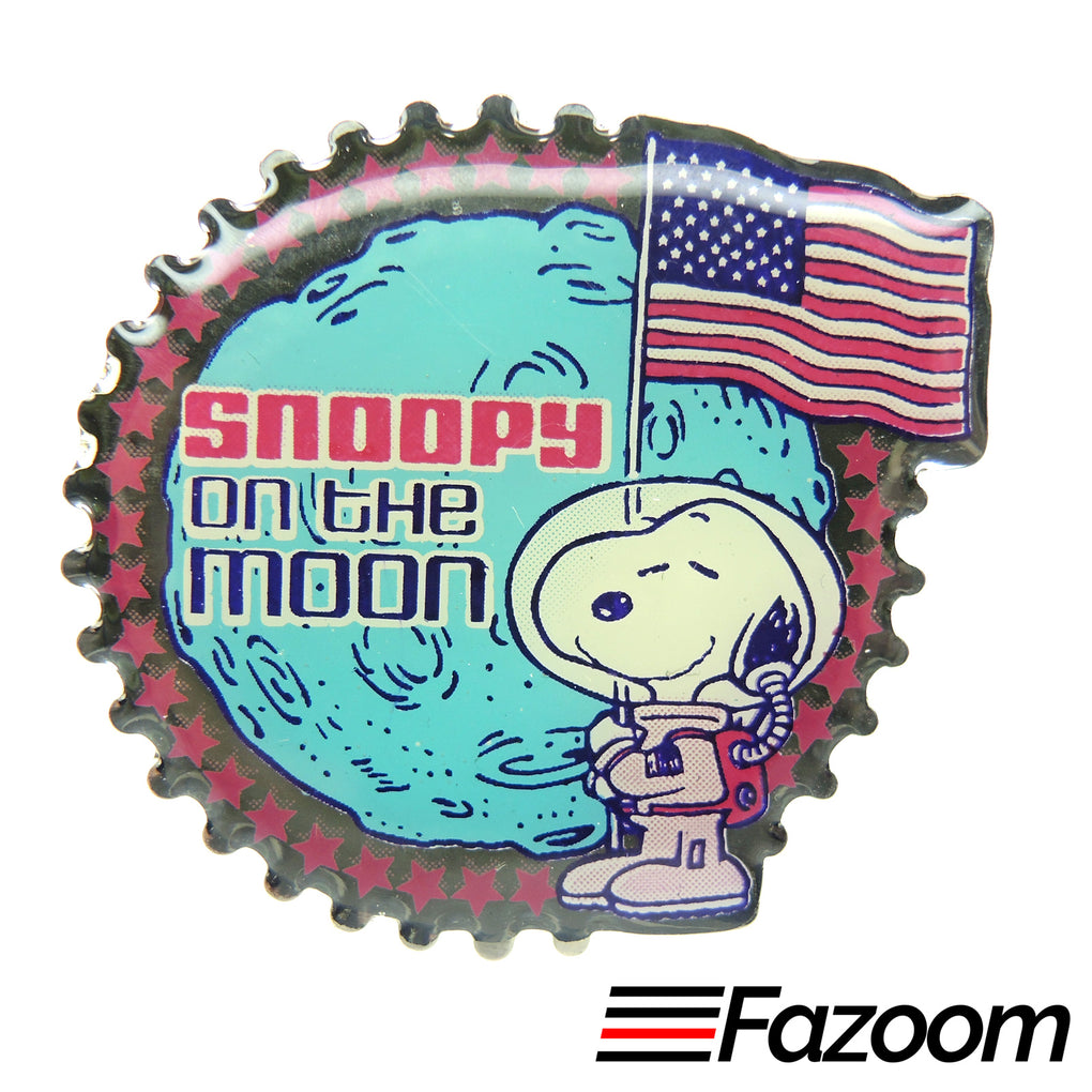 Peanuts Snoopy on the Moon Astronaut Lapel Pin
