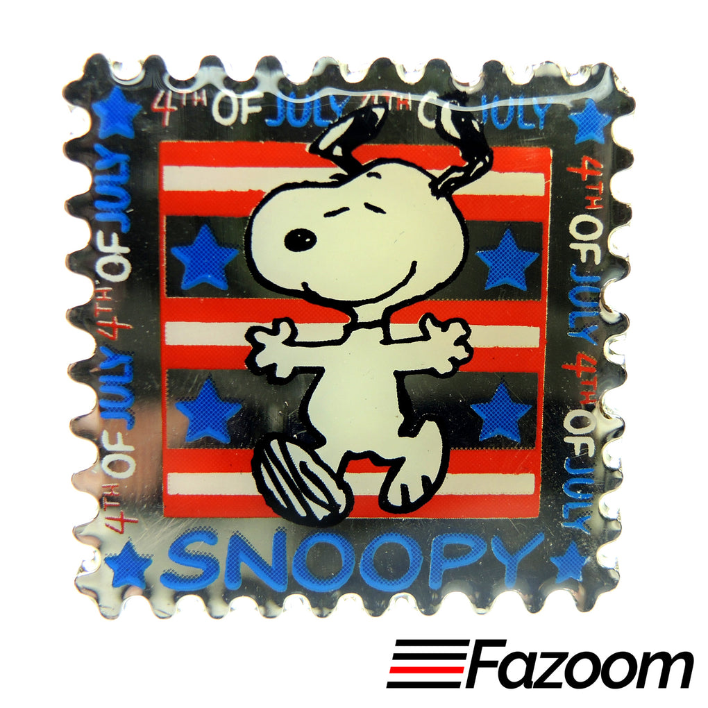Peanuts Snoopy 4th of July Lapel Pin