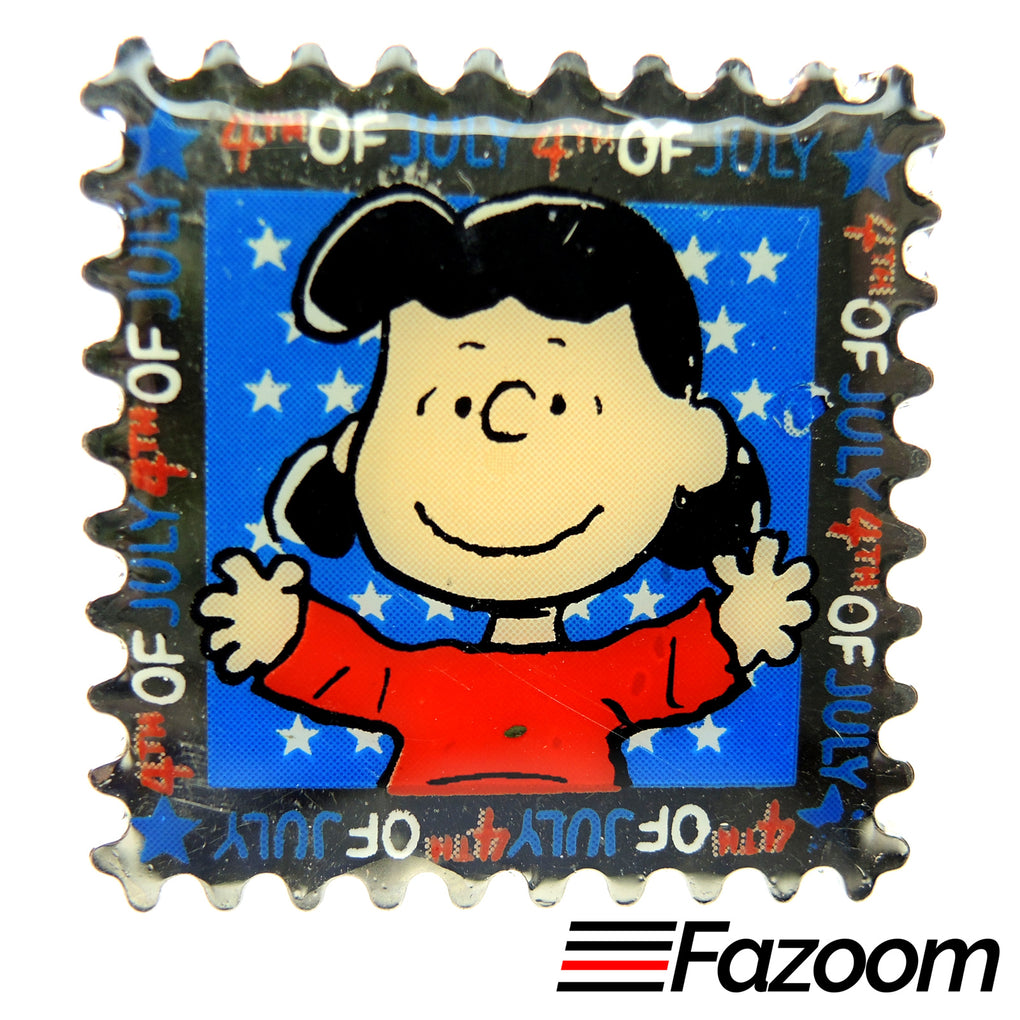 Peanuts Lucy 4th of July Lapel Pin
