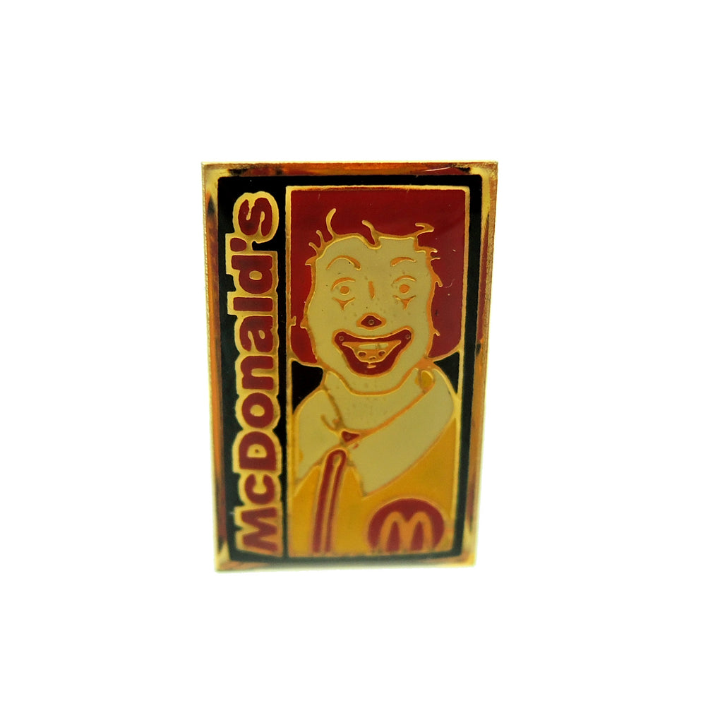 McDonald's Ronald McDonald Small Rectangle Lapel Pin - Fazoom