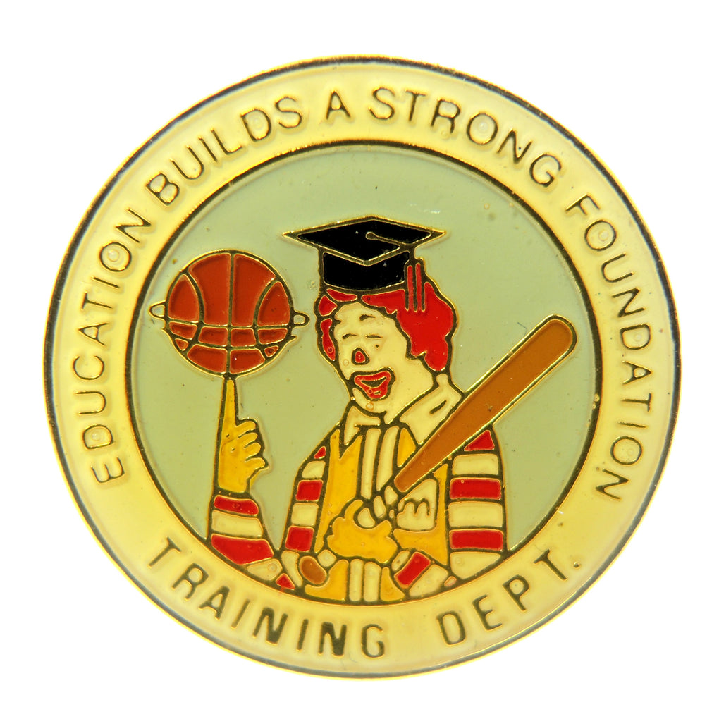 McDonald's Ronald McDonald Training Department Lapel Pin - Fazoom