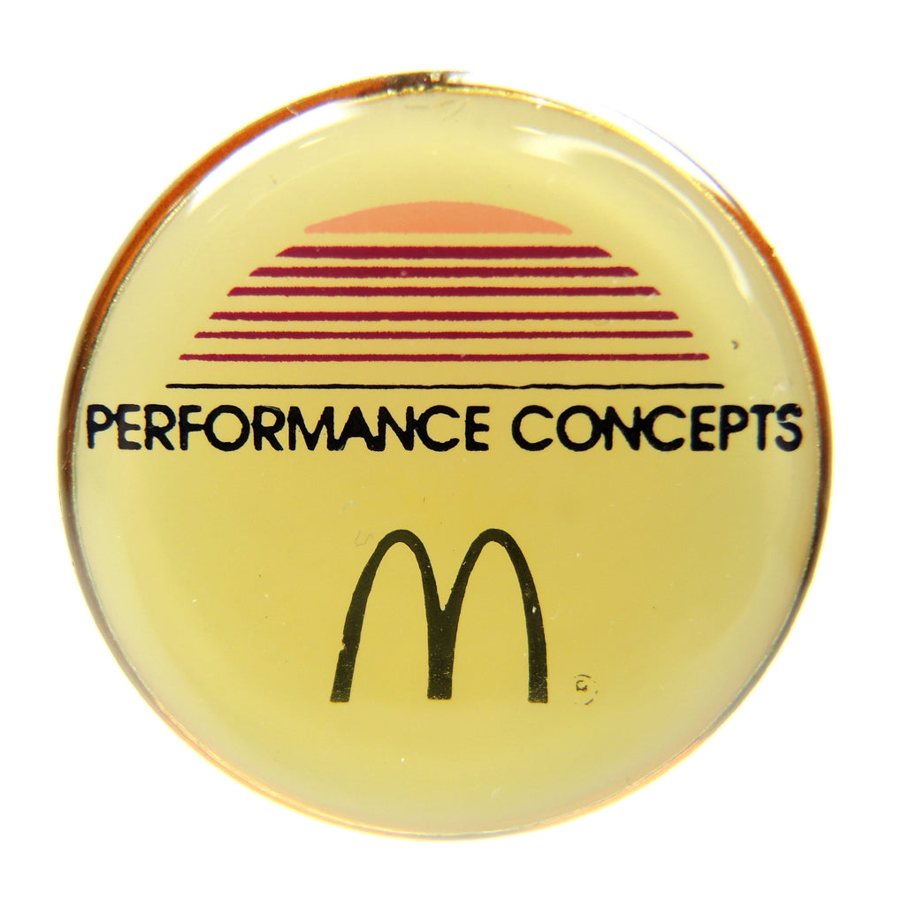 McDonald's Performance Concepts Round Lapel Pin - Fazoom