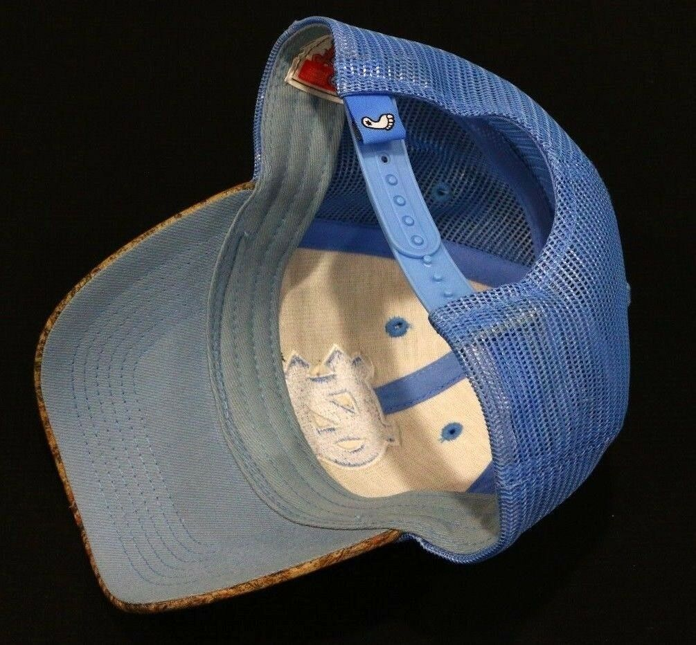 North Carolina Tar Heels UNC University NCAA Blue Camo Mesh Strapback Hat - fazoom