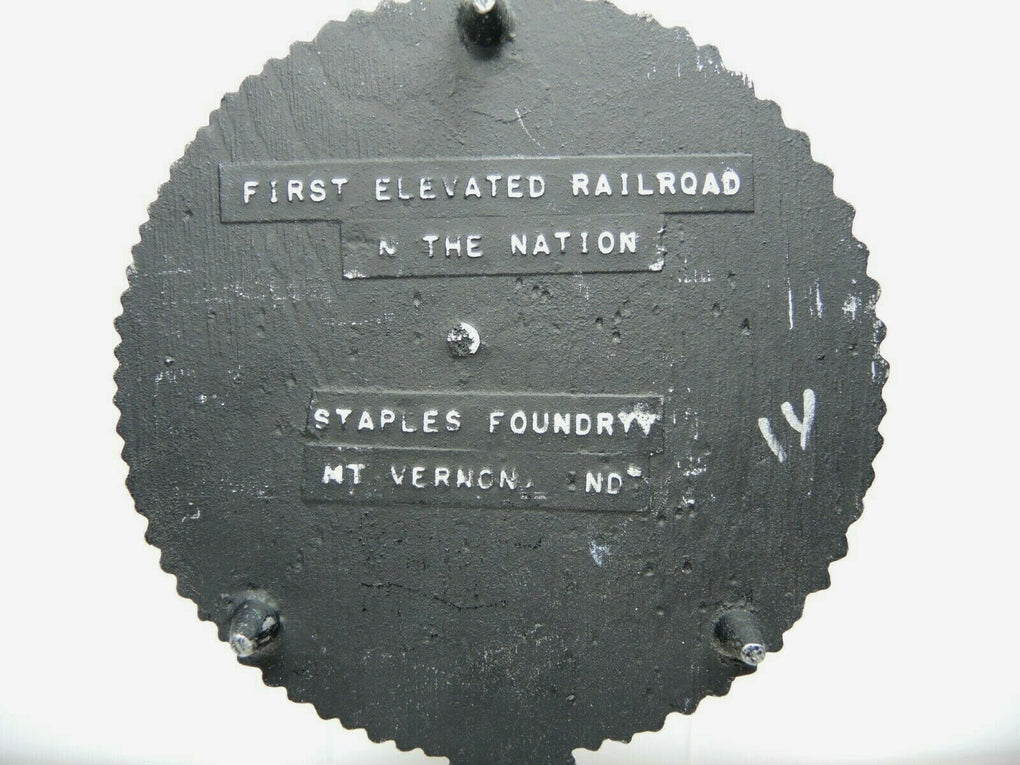 The Underpass First Elevated Railroad Jennings Co Indiana 1837 Cast Iron Trivet - fazoom